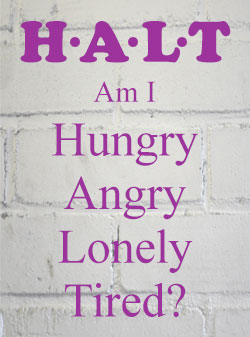 HALT - Hungry Angry Lonely Tired